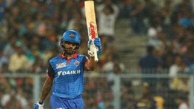 Photo of Dhawan's Second Successive IPL Ton Takes Delhi To 164/5