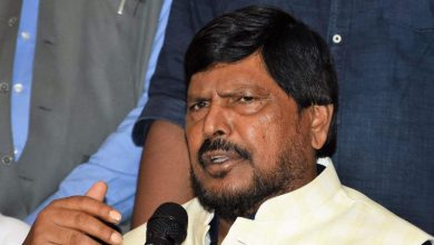 Photo of Covid-19 Catches Athawale Who Coined The 'Go Corona Go' Anthem