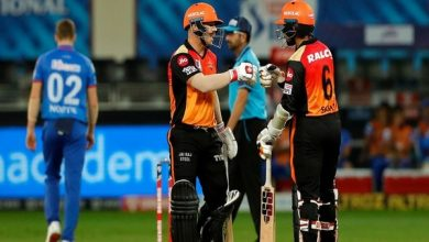 Photo of Warner, Saha Fireworks Take SRH To 219/2