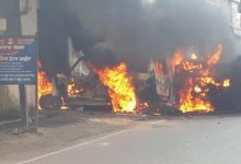Photo of Violence In Munger Again, SP Office Vandalised And Police Station Attacked