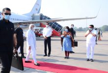 Photo of Modi Reaches Ahmedabad To Inaugurate, Lay Stones Of 21 Projects At Kevadiya