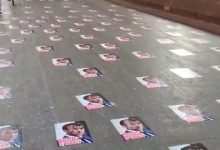Photo of Police Remove Posters Of Macron Pasted On Mumbai Road