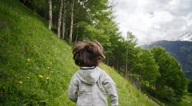 kid with nature