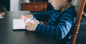 Kids using screen