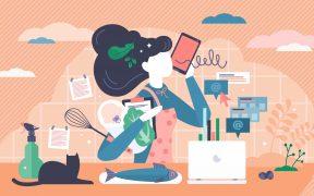 multitasking women
