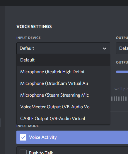 click on the Input Device option which will show you all the available microphone devices on your computer