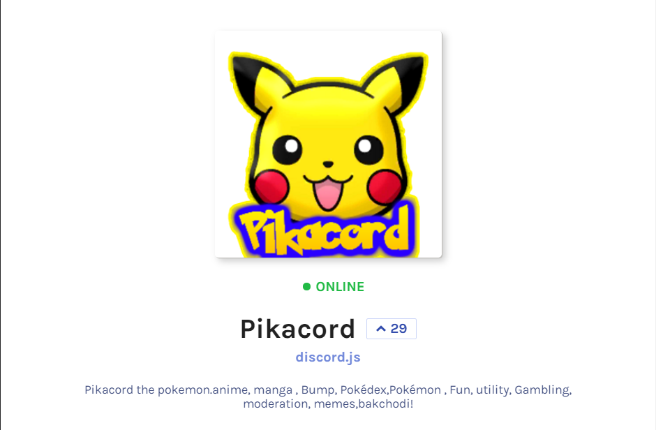 Pikacord