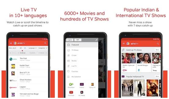 Features of Airtel TV for PC