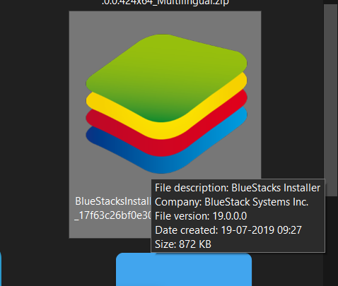 open the Bluestacks installer EXE file