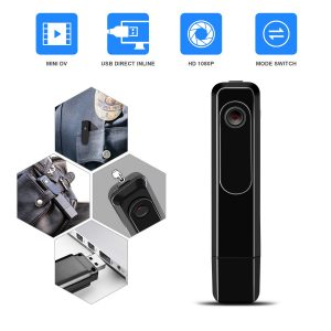 Mini Body Camera with USB Port DZFtech Body Spy Cam HD 1080P Wireless Portable Hidden Spy Pen Body Cameras Wearable Video Recorder with Clip Body Camera Easy to Record for Home/Office