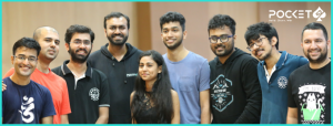 WInners of the NLHE tournament at IIM Kozhikode with Pocket52