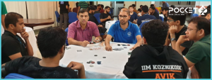 Professor Dhayanithy Playing Poker at the IIMK pocket52
