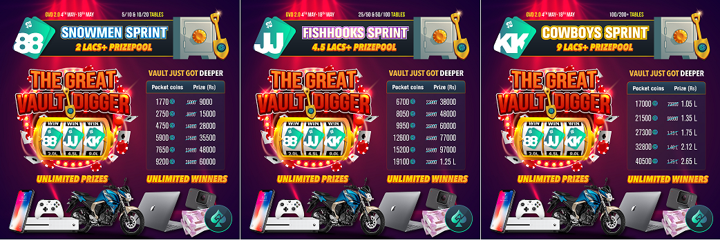 Play Poker at Great Vault Digger 2.0