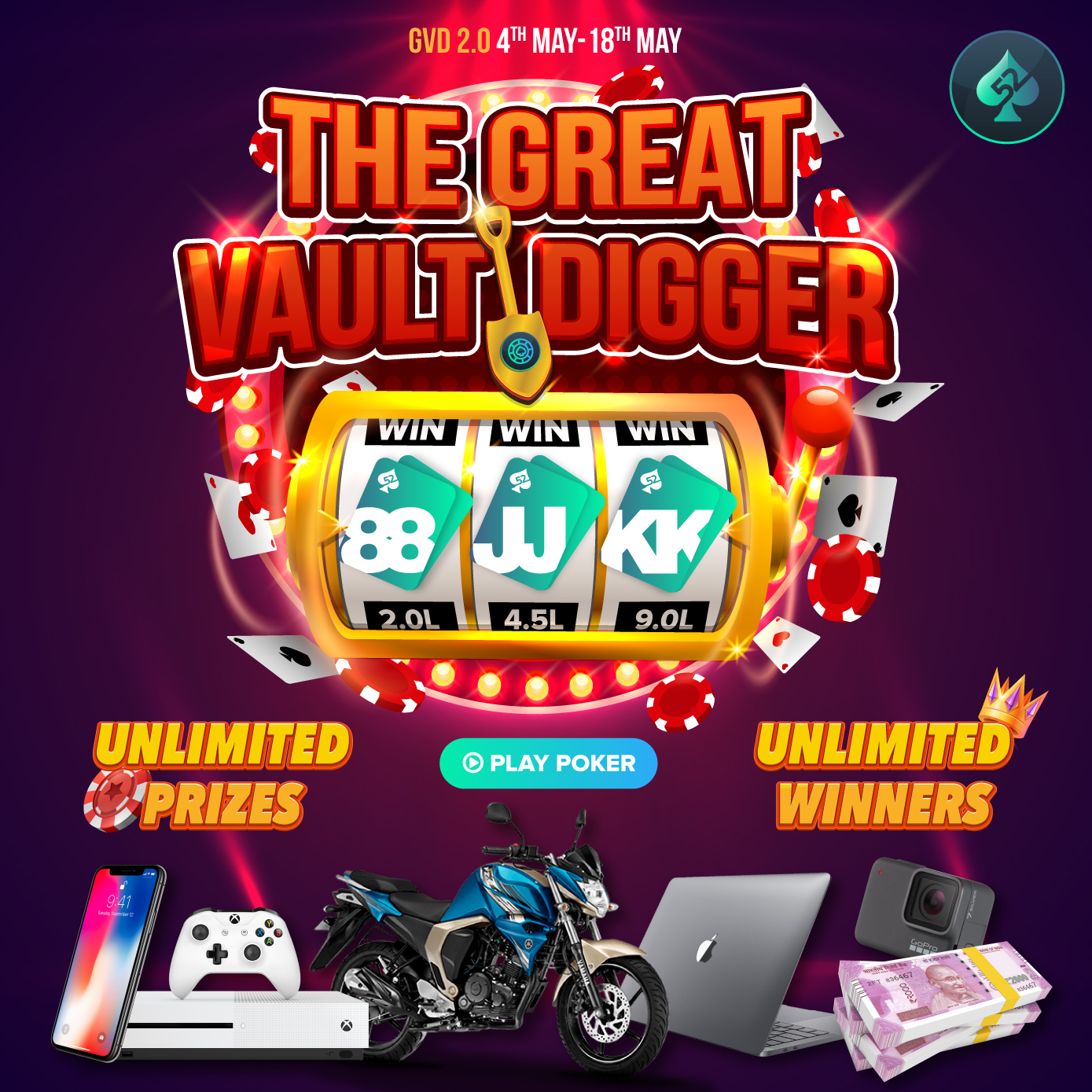 Great Vault Digger 2.0 | Play Online Poker India