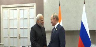 PM Modi Meets Russian President Putin At BRICS Summit