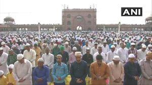 Delhi: People offer prayers at Jama Masjid on Eid Al Adha