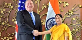 Swaraj, Sitharaman hold talks with US counterparts ahead of two-plus-two