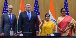 2+2 talks: India, US ink critical def pact; discuss cross-border terror, H1B