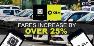 Ola, Uber fares increase by over 25% in last two years: Study
