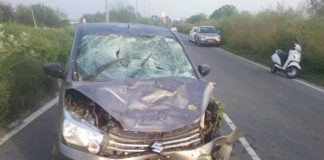 Ropar Bypass car driver walking People Crushing 1 death and 3 injured