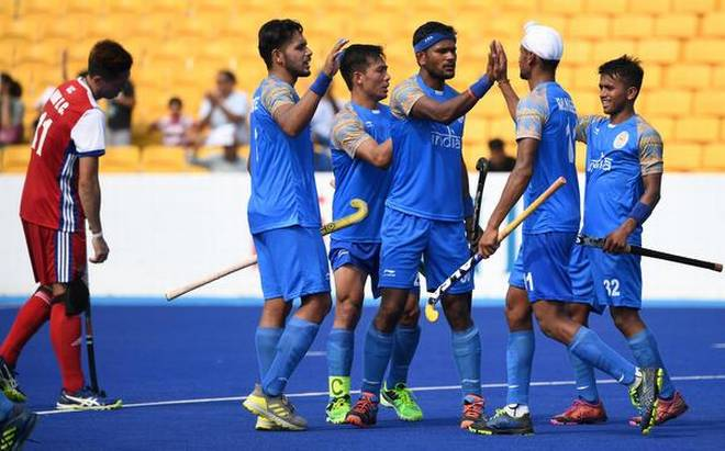 Indian men record yet another big win in Hockey 5s