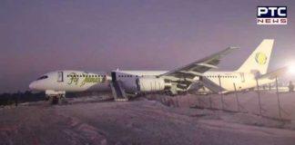 Plane overshoots
