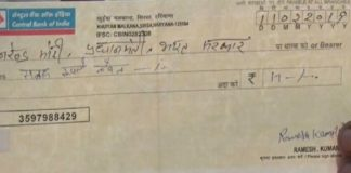 cheque copy