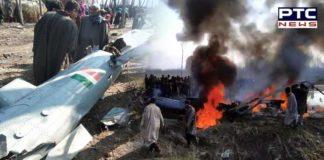 Jammu -Kashmir Badgam Indian Air Force Fighter aircraft MiG-21 crash