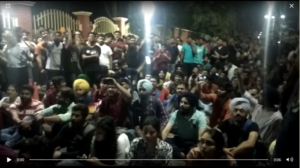 Thapar University Patiala students Fees Against Protest
