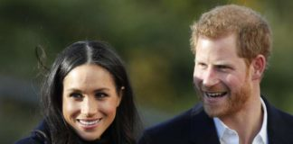 Britain's Duchess of Sussex and wife of Prince Harry,Meghan Markle delivers baby boy