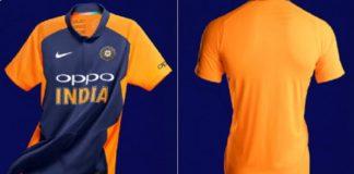 India vs England, Orange Jersey