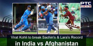 Virat Kohli ,Sachin Tendulkar ,Brian Lara , India vs Afghanistan, ICC Cricket World Cup 2019