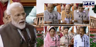 PM Modi, cabinet minsters & other MPs take oath on 1st day of 17th Lok Sabha