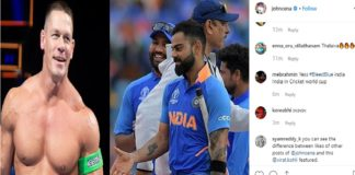 John Cena shares Virat Kohli picture ahead of semi-final India vs New Zealand, ICC Cricket World Cup 2019