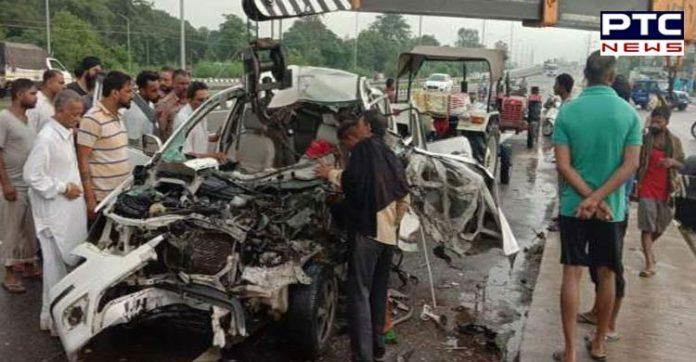 Jalandhar: One person died, three injured in a road accident near Jalandhar-Amritsar Highway