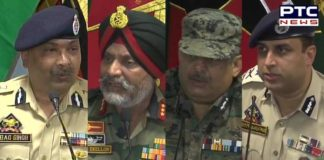 Jammu and Kashmir: Joint press conference of Chinar Corps Commander Lt General K J S Dhillon and J&K DGP Dilbag Singh