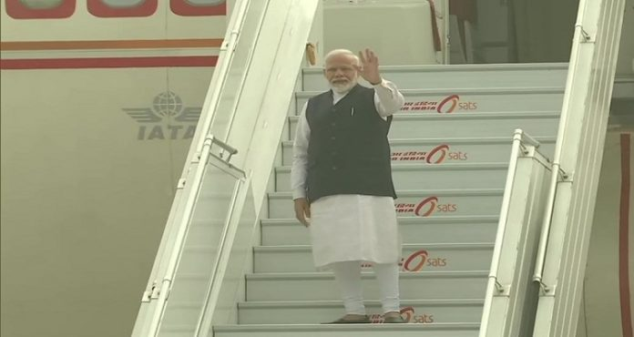 PM Narendra Modi leaves for Brazil to attend the 11th BRICS summit