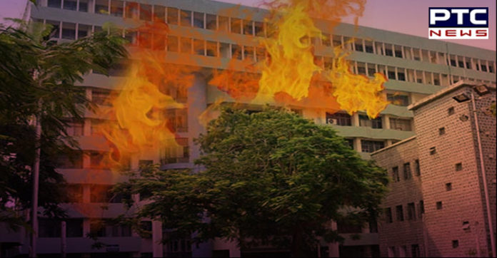 Delhi Fire breaks out at Sales Tax Office in ITO
