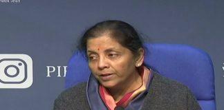 Finance Minister Nirmala Sitharaman addresses media in Delhi