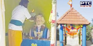 NaMo temple: Tamil Nadu farmer builds temple to show his affection for PM Narendra Modi [PHOTOS]