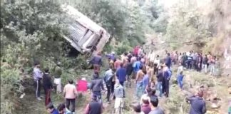 Bus falls into gorge in Jammu Kashmir