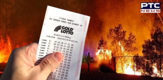 Man wins $ 1 million lottery , Australia Bushfire , Gold Lotto