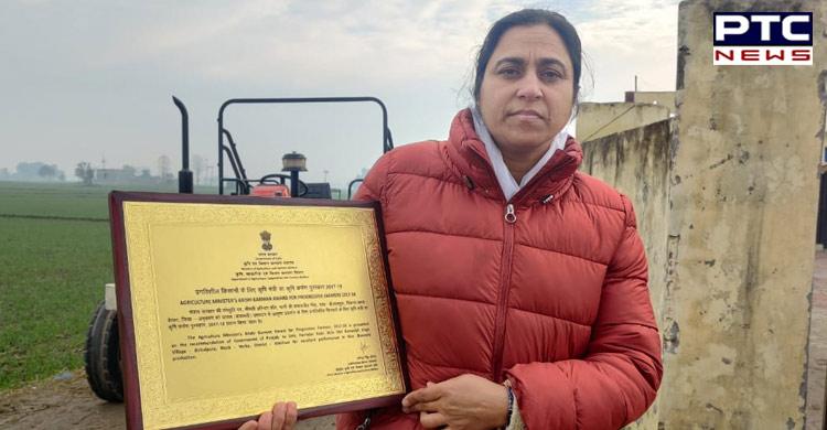 Krishi Karman Award Harinder Kaur , PM Narendra Modi ,Punjab News