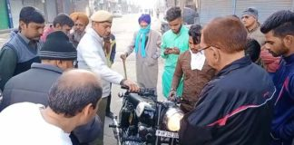 Haryana News | Traffic police fined bullet rider in Sirsa