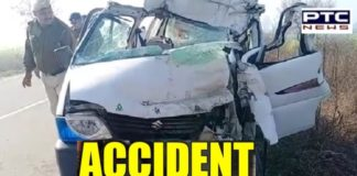 haryana-car-collision-with-a-truck-parked-on-the-road-in-hisar