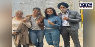 #DelhiAssemblyElection: Taapsee Pannu Cast Her Vote With Family In Delhi