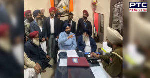 Bikram Singh Majithia Mehta Chowk police station Elders With Bullying Accused On Police officer
