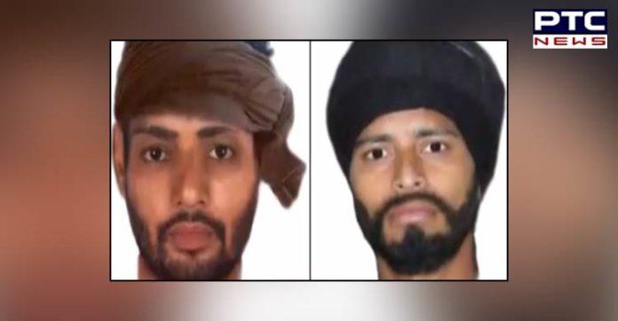 Gurdaspur Police Sketch of Two accused attacking Shiv Sena leader Honey Mahajan