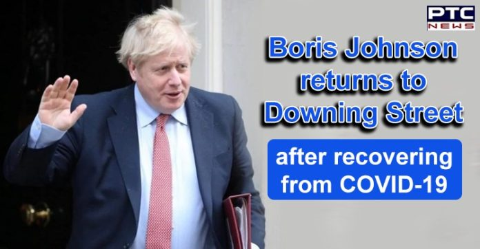 Coronavirus UK Boris Johnson Recovered and Returns to 10 Downing Street