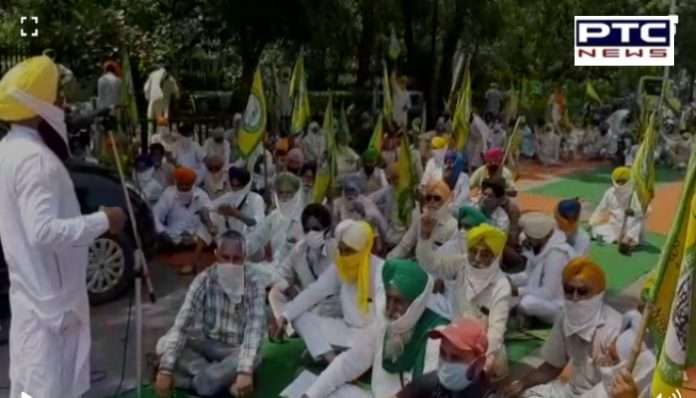 Bhartiya Kisan Union Ekta (Ugrahan) protests outside Powercom offices in various districts